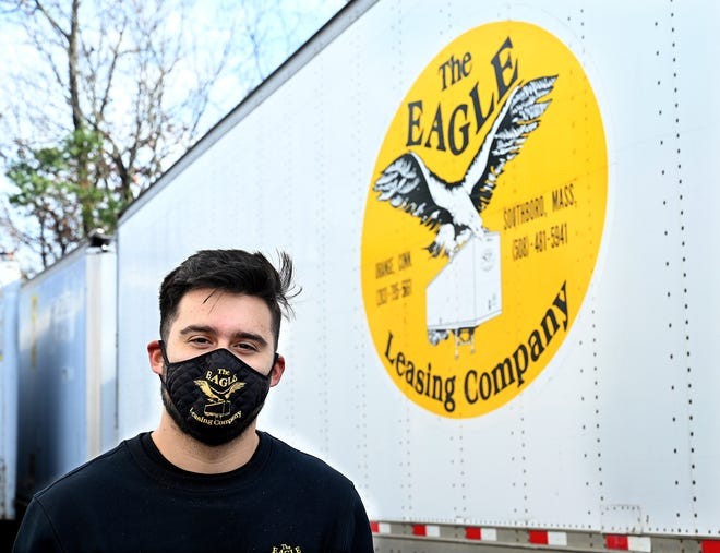 Brandon Eagle is operations manager at Eagle Leasing in Southboro. Every two weeks, all Eagle Leasing employees, including members of the Eagle family, are tested for the coronavirus.