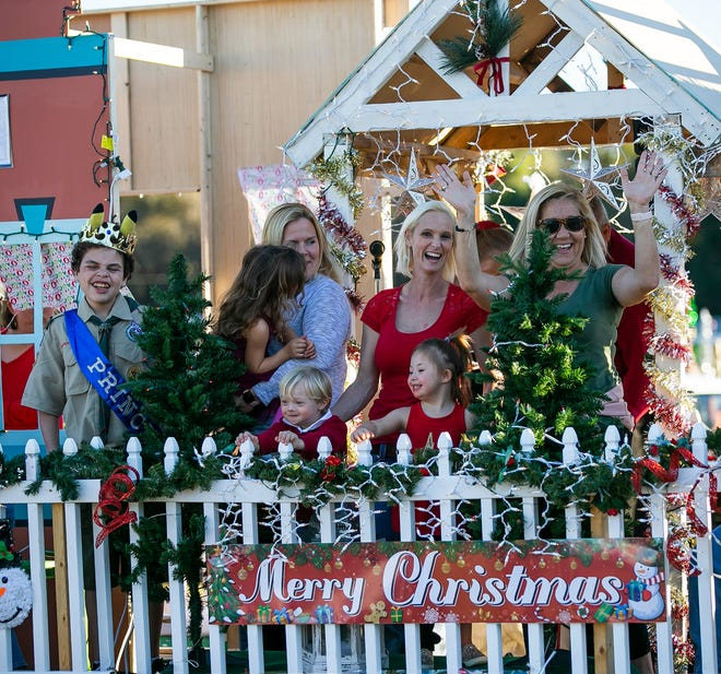 Members of the Champions for Champions non-profit are shown before the 2019 Ocala Christmas Parade in this file photo. Parade organizers announced on Thursday that they would cancel this year's parade.