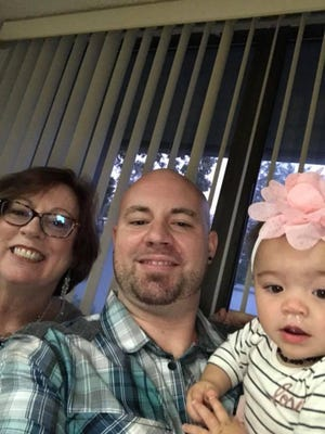This family photo shows Nicholas Rubino with his mother, Donna Rodriquez, and his oldest daughter, Marlee.