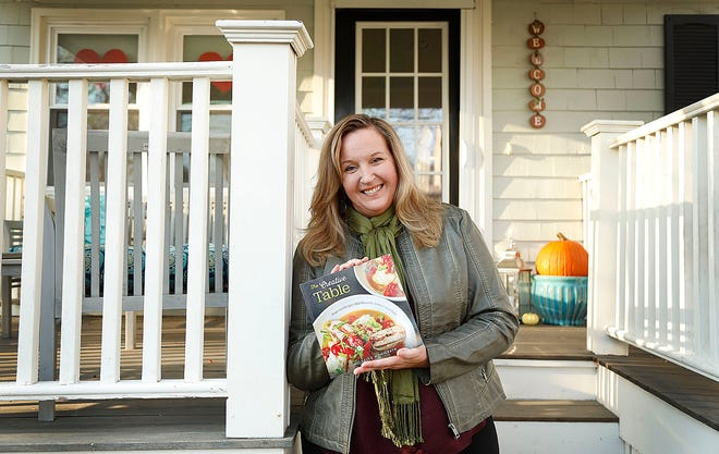 """Michelle McGrath of Scituate has penned a cookbook """"The Creative Table: Recipes that Nourish Gather and Unite"""" on Thursday November 19, 2020 Greg Derr/ The Patriot Ledger"""