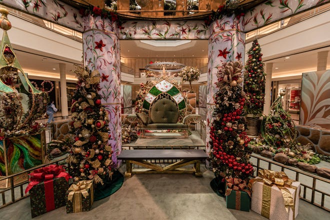 A mask-wearing, socially distant Santa Claus returns to The Gardens Mall Saturday as part of a holiday photo experience through Cherry Hill Programs. Santa will be situated 10 feet behind all guests inside the gazebo where photos are taken. Guests will not be permitted to touch Santa or sit on his knee for pictures.
