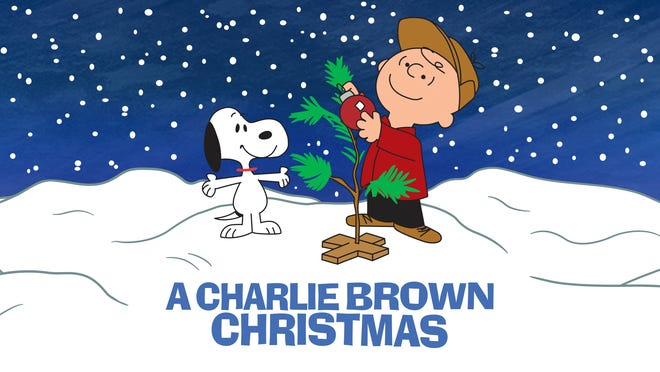 """This image released by Apple shows key art for the animated classic """"A Charlie Brown Christmas"""" holiday special. Apple and PBS have teamed up for ad free broadcasts of the special and """"A Charlie Brown Thanksgiving.""""  (Apple via AP)"""