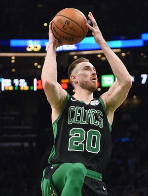 Gordon Hayward has decided to opt out of the final year of his four-year contract with the Celtics and could re-sign with Boston or sign as a free agent with another team.  [USA today sports, file / Bob DeChiara]