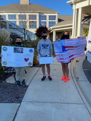 Students at Rockford Christian Schools recently honored the veteran family members of the student body.