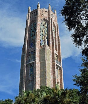 The Bok Singing Tower was built from 1927 to 1929 near Lake Wales by the retired editor of the Ladies Home Journal, Edward Bok. (Photo / Harold Bubil; 8-10-2017)