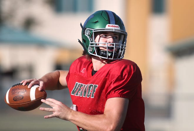 Venice High senior quarterback Colin Blazek, a transfer from Illinois, has completed 143-of-238 passes for 2,048 yards and 22 TDs this season.