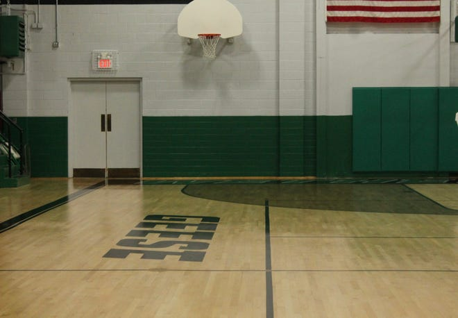 The main gymnasium at Wethersfield High School sits idle.
