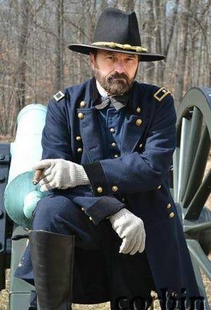"""E.C. """"Curt"""" FieldsJr. portrays General Ulyssess S. Grant."""