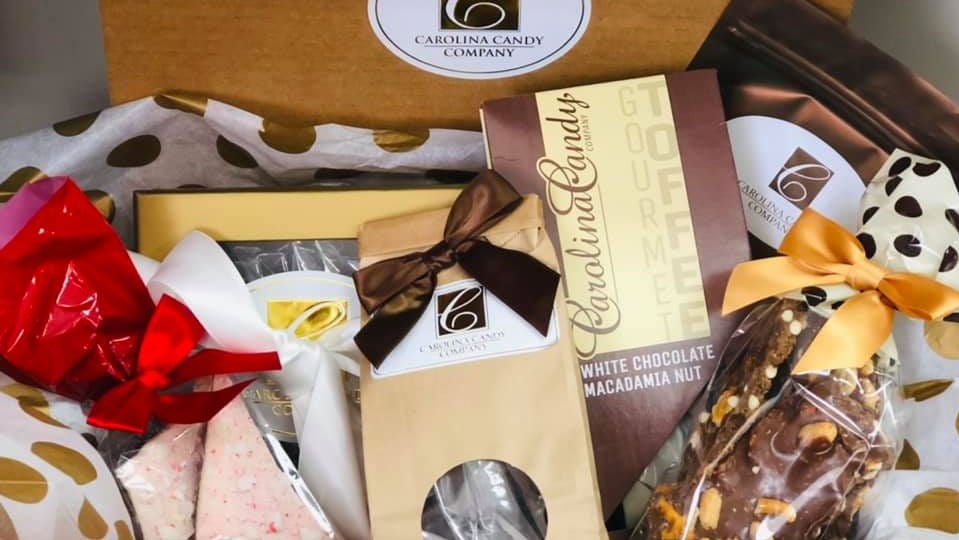 The Carolina Candy Company in Wilmington sells house-made toffee and candy, as well as other products made by small businesses.