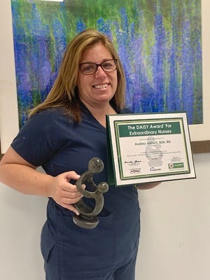 Registered Nurse Audrey Aldrich recently earned a DAISY Award during her time working in the Bayhealth Cancer Center, Sussex Campus.