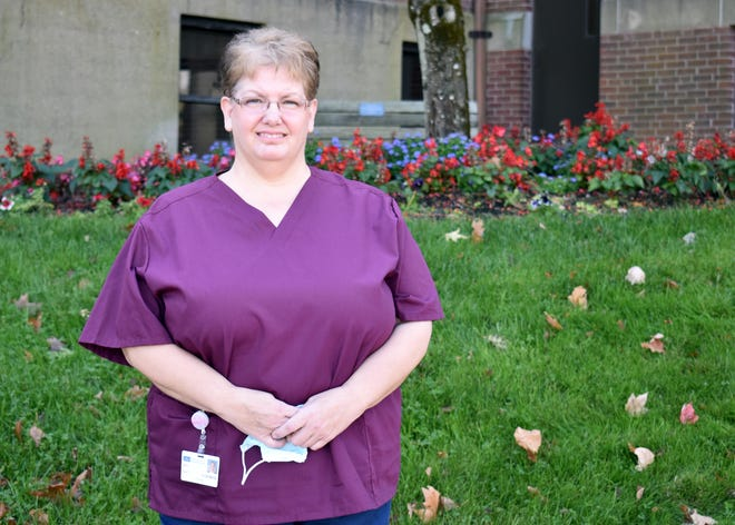 Lori Hamilton, clinical coordinator in the medical/surgical department at Day Kimball Hospital, has been named employee of the month for October.