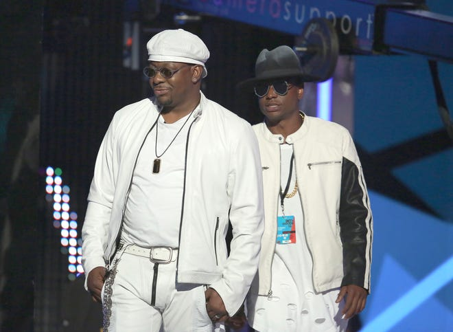 Bobby Brown, left, and Bobby Brown Jr. appear at the BET Awards in Los Angeles on June 26, 2016.