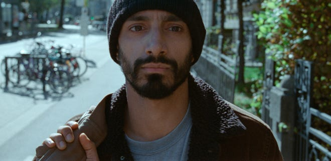 "Riz Ahmed in a scene from ""Sound of Metal."""