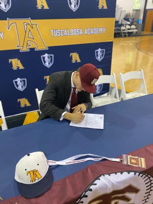 Tuscaloosa Academy's Houston Evans signs to play college baseball at Florida State