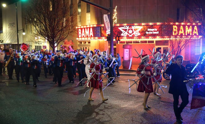 The annual Tuscaloosa Christmas parade moves through downtown Tuscaloosa Friday, Dec. 13, 2019.  [Staff Photo/Gary Cosby Jr.]