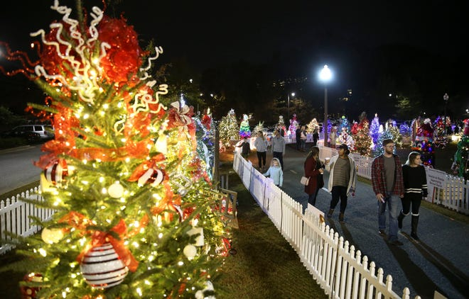 The Tinsel Trail officially opens Nov. 23 for its eighth season along the Tuscaloosa Riverwalk with 170 decorated trees. Proceeds from the sponsorship of the trees goes to benefit Tuscaloosa's One Place. [Staff file photo/Gary Cosby Jr.]
