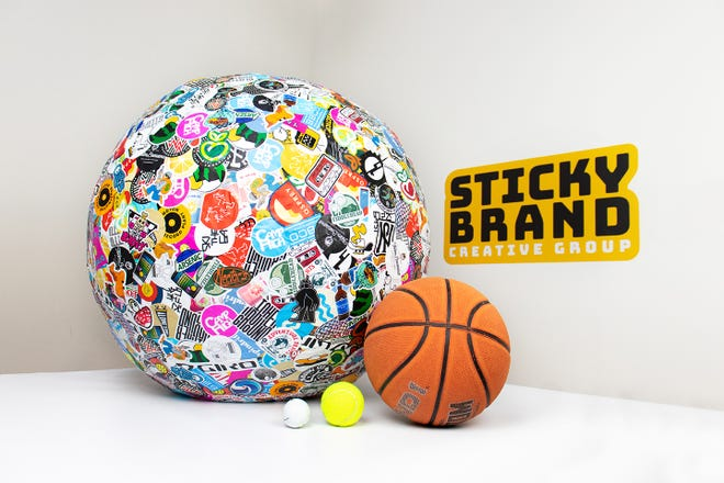 The record-setting sticker ball is pretty big now, but it's only going to get bigger, according to Sticky Brand Creative Group.