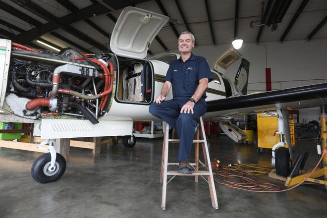 Mike Dunkley has lived and travelled all over the world, but has found a home at MMS Aviation in Coshocton.
