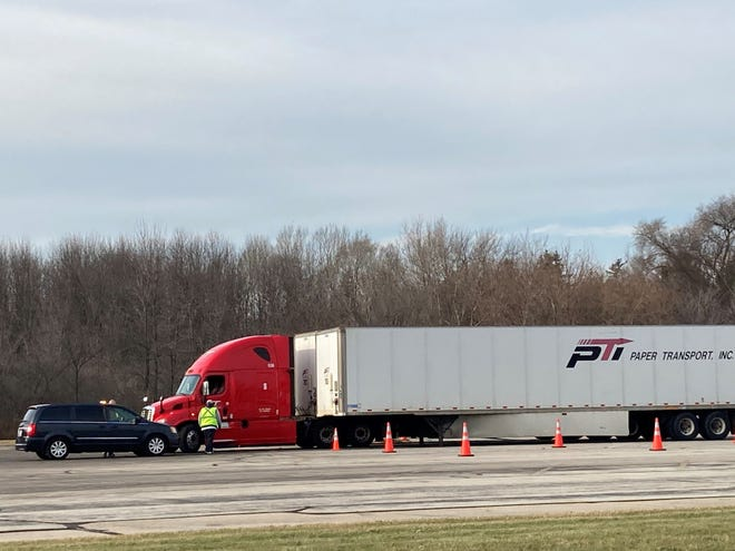 """Paper Transport Inc. announced a guaranteed minimum weekly wage and a raise for its regional truck drivers. Regional drivers haul freight over specific areas and may spend days on the road, as opposed to """"home daily/hourly"""" drivers whose routes allow them to return home most nights."""
