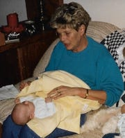 Janice McNelly and her granddaughter Samantha in 1992.