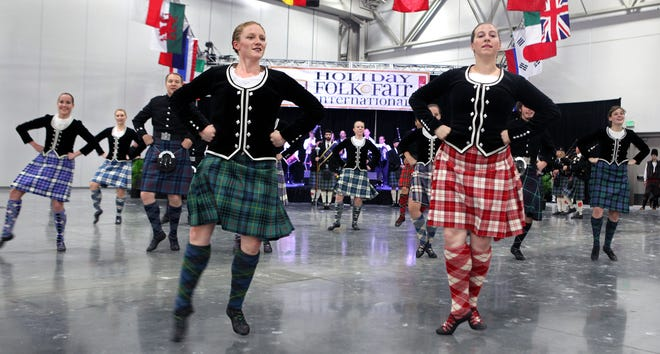 The Caledonian Scottish Dancers, shown performing live at a past Holiday Folk Fair International at State Fair Park, this year will perform on video to watch at home. This year's Holiday Folk Fair, Nov. 20 to 22, will be virtual instead of in person because of the pandemic.