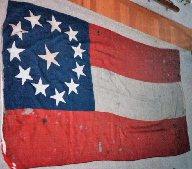 The Confederate Flag captured at the Battle of Stones River was previously held in Newark.