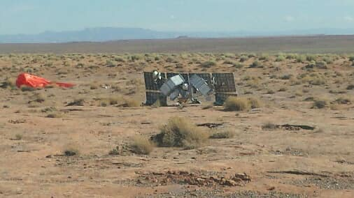 Officials say a satellite fell from the sky and landed on the Navajo Nation on Nov. 18, 2020.