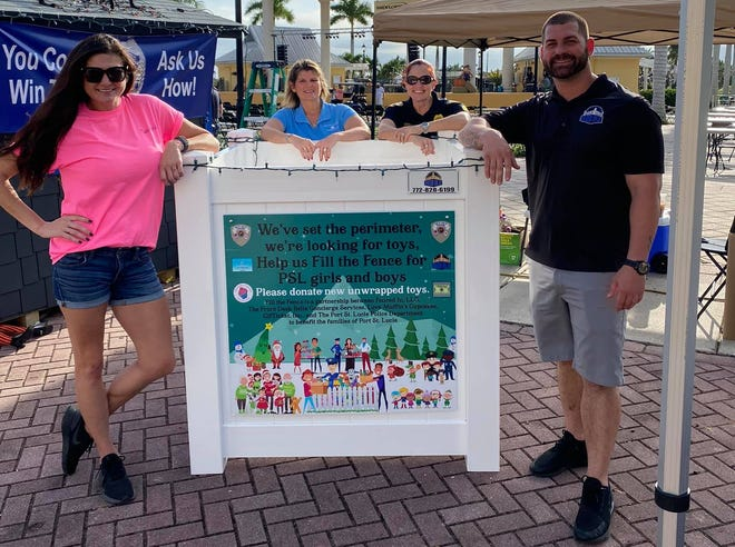 The Port St. Lucie Police Department has partnered with four local businesses to host the inaugural 'Fill the Fence' holiday toy drive. The boxes, as fences, are a symbol of the community joining together.