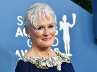 "Seen here at this year's Screen Actors Guild Awards, Glenn Close is going for Oscar nomination No. 8 with ""Hillbilly Elegy."""