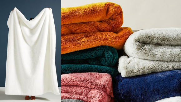 Best gifts from Anthropologie: Sophie Faux Fur Blanket
