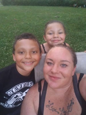 Jocelyn Fox with her two children.