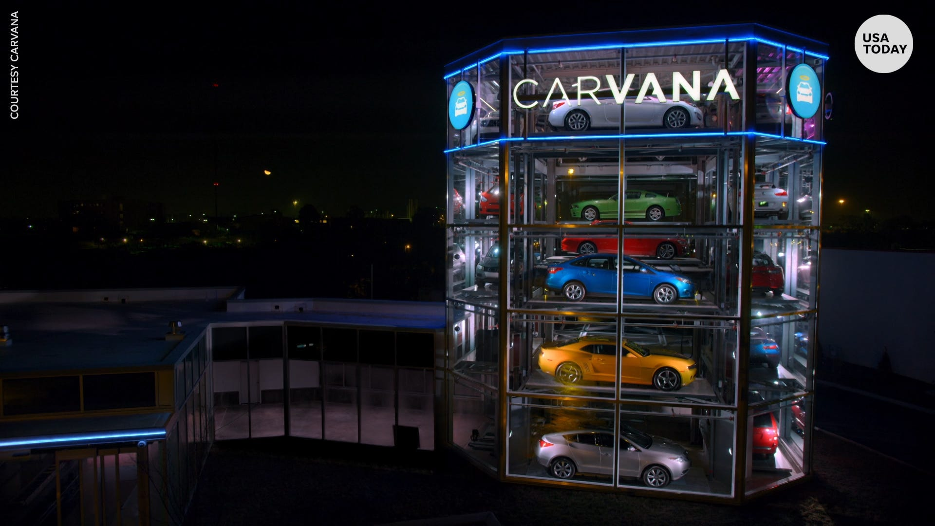Carvana's new Car Vending Machine is the tallest in the country at 12 stories high