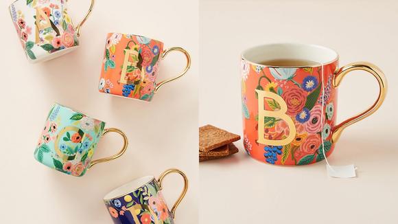 Best gifts from Anthropologie: Garden Party Monogram Mug