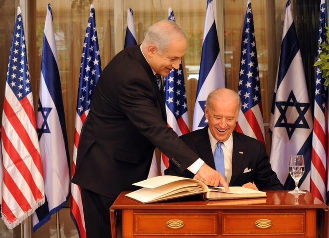As vice president, Joe Biden visited Israeli Prime Minister Benjamin Netanyahu on March 9, 2010, in Jerusalem.