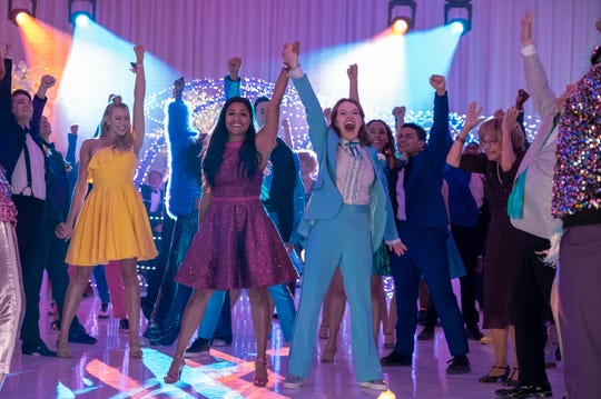 """Youngsters fight to have an inclusive prom in Ryan Murphy's Netflix musical comedy """"The Prom,"""" based on the Broadway show."""