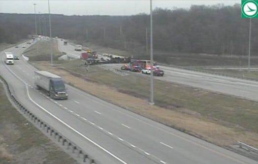 Interstate 271 northbound at I-77 is closed due to a crash.