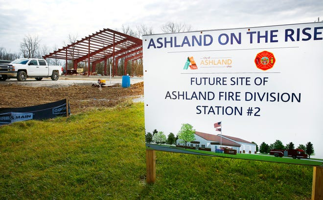 The Ashland Division Fire Station #2 is under construction at Mifflin Avenue and U.S. 42. NOELLE BYE/FOR TIMES-GAZETTE.COM