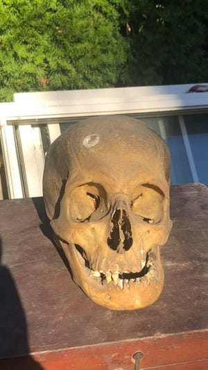 Bordentown City resident Paul Ciarrocca found a human skull in the rafters of his Prince Street home on Nov. 10.