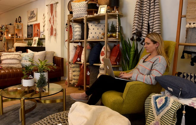 May Wynn furniture store owner Jessica Foote has offered more e-commerce for customers of her store at 1401 Forum Blvd #101 since she opened in February.