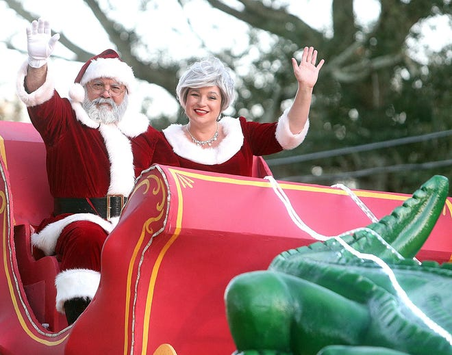 Scene from a previous Thibodaux Christmas parade.
