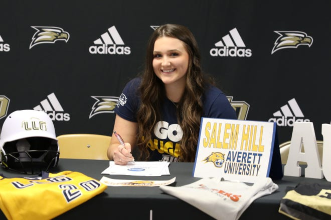 East Davidson's Salem Hill has signed a National Letter of Intent to play softball at Averett University.