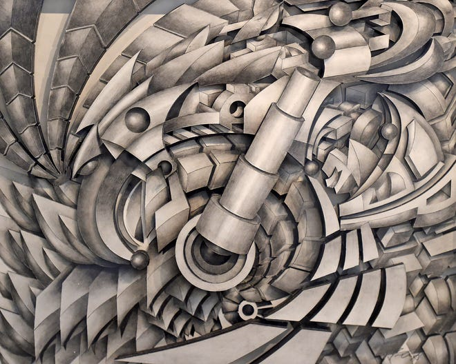 """""""Spun"""" by Jason Amatangelo, of Erie, is displayed in 2017 at the Erie Art Museum's 94th Annual Spring Show. Amatangelo is among thousands of artists nationwide who will participate in Artists Sunday on Nov. 29."""
