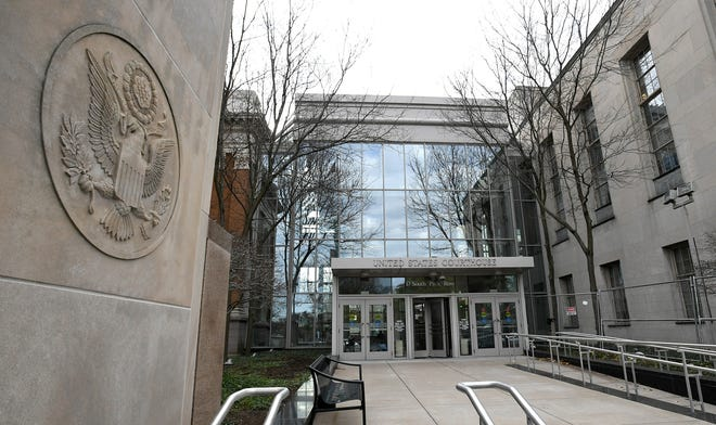 A 67-year-old Erie man pleaded guilty on Monday in U.S. District Court in Erie to defrauding a Massachusetts woman of $550,000 after he met her via an Internet dating service.