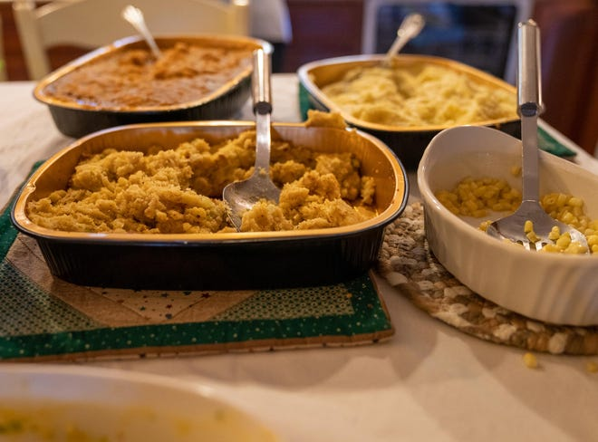 After a Thanksgiving feast, leftover foods should not sit out at room temperature for more than two hours.