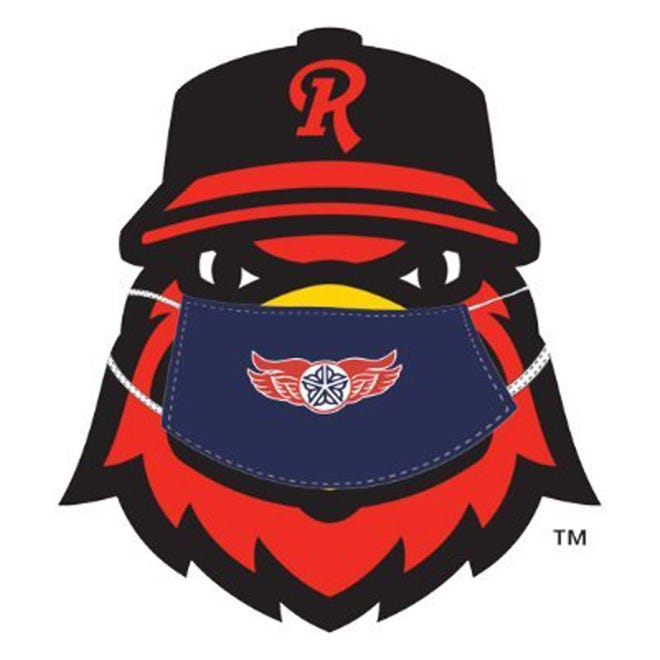 The Rochester Red Wings adapted their logo for the coronavirus pandemic which shut down the International League and the rest of minor league baseball 2020.