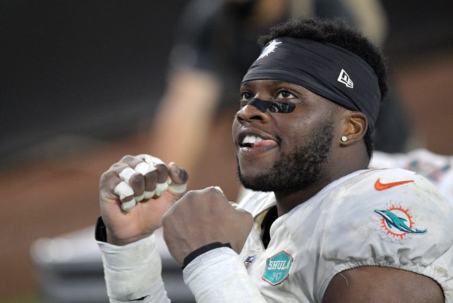 Miami Dolphins defensive end Emmanuel Ogbah is leading the charge for the Miami Dolphins defense. He has become a playmaker for a disruptive unit that ranks second in the NFL in takeaways per game and fourth in points allowed.