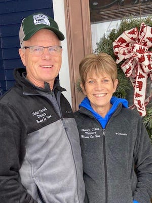 Dave and Carol PIerce are the owners of Honey Creek Timbers in Morning Sun.