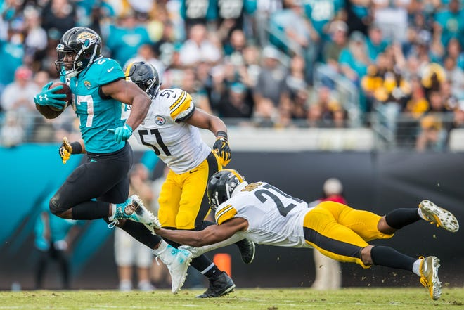 Former Jaguars running back Leonard Fournette helped the Jaguars during the 2017 season to beat the Steelers twice, but the teams' fortunes have changed since.