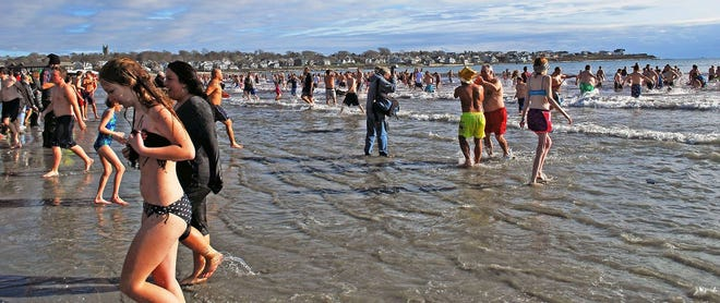 A Wish Come True is planning a virtual ice bucket challenge rather than the annual Polar Plunge as seen here in this file photo.