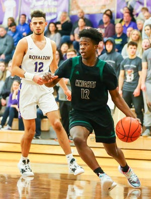 Nordonia point guard Anthony Lee drives to the basket during a game against North Royalton last season.